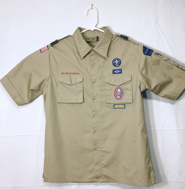 Boy Scouts Of America Sz M Shirt Eagle LDS Patches Badges Las Vegas 948 Cosplay