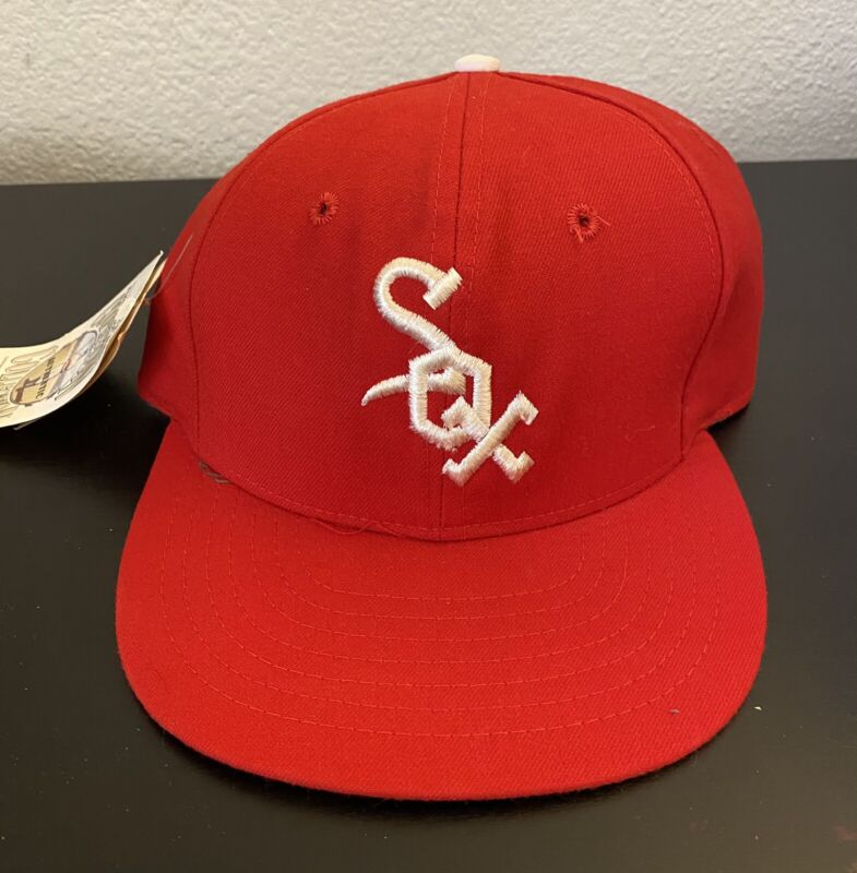 New 1971-75 CHICAGO WHITE SOX 100% Wool THROWBACK Baseball Cap Fitted Size 7 Hat