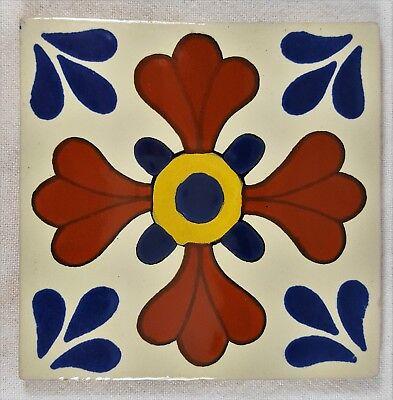 Mexican Talavera Tile ~ 4-1/4