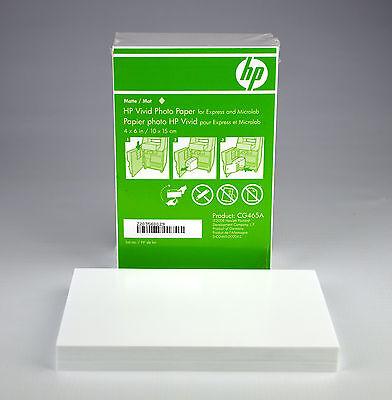 "NEW - HP Vivid Photo Paper 4"" x 6"" Matte white CG465A 60 Sheets FREE SHIPPING"