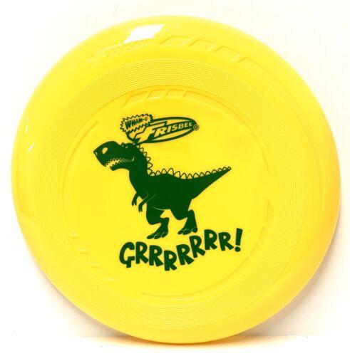 "WHAM-O FRISBEE Yellow With Dinosaur Imprint 9"" Width NEW"