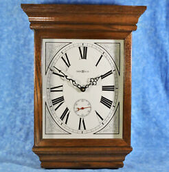 HOWARD MILLER Oak Case FABLES Wall Clock w/ Second Hand 613-239 Quartz Mvt- EUC