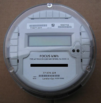 Landis Gyr Lg Watthour Meter Kwh Type Alf Focus 240 Volts 200a Fm2s