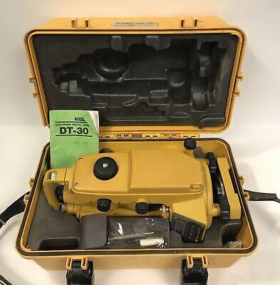 Topcon Digital Transit Dt-30 Theodolite With Case