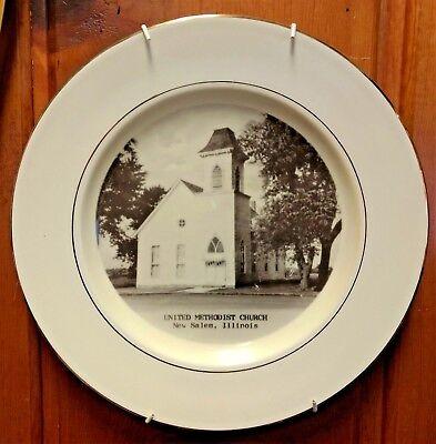 PRESTON-HOPKINSON  -  New Salem, IL United Methodist Church - Plate with Hanger