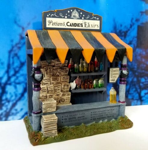 DEPT 56 Snow Village Halloween SPELLS & POTIONS KIOSK!  Witch, Witches