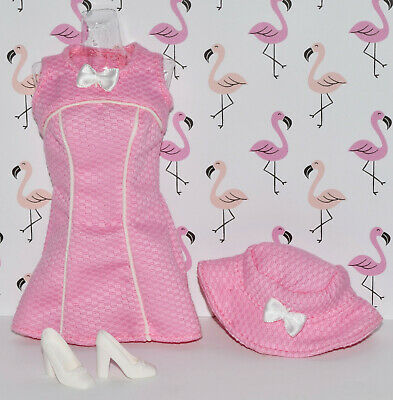 "BARBIE FASHION AVENUE * ""TEA TIME"" PINK DRESS, HAT, WHITE HEELS * 1999"