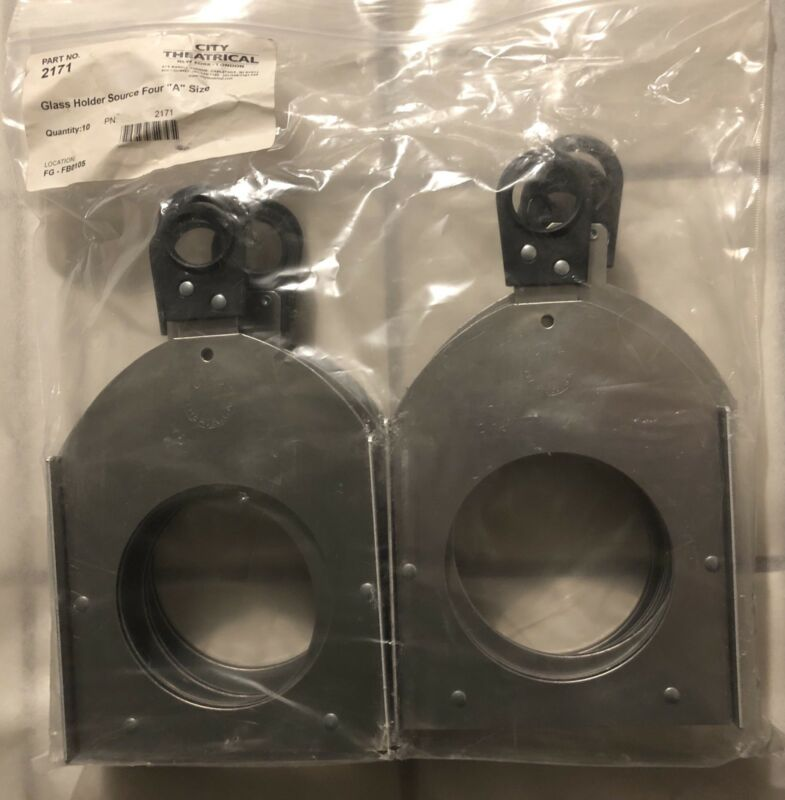 10x City Theatrical 2171 Glass Gobo Holder Source Four A Size, $200 Value