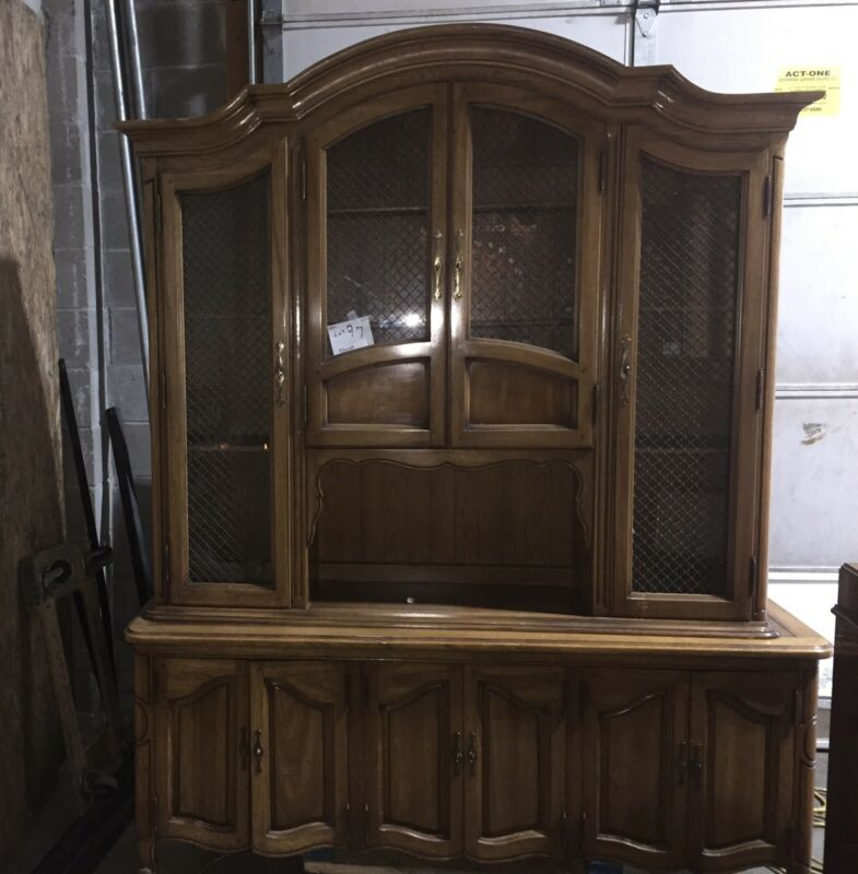 China Cabinet Hutch and Buffet - Brown