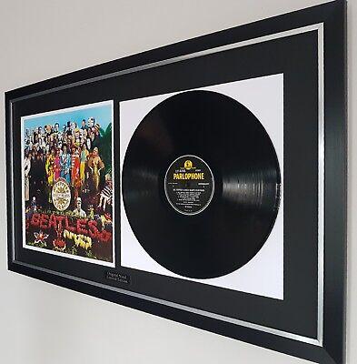 Sgt Pepper The Beatles Framed Vinyl Album John Lennon Paul McCartney Ringo Starr