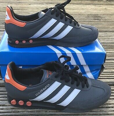 ADIDAS ORIGINALS* KEGLER SUPER GREY ORANGE WHITE TRAINERS UK 9