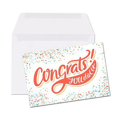 Congratulations You Did It Note Card - 4 x 6 Folded Note Card - You Did