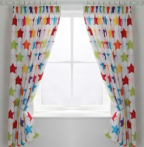 Colour Match Kids' Star Curtains -66