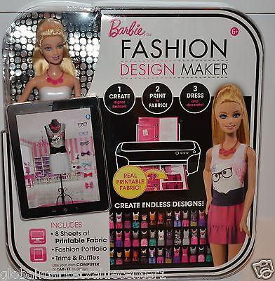BARBIE  fashion design maker crate print dress endless designs fashion portfolio