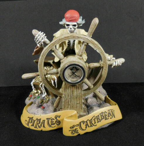 Pirates of the  Caribbean LE 500 FIGURINE CLOCK HAND PAINTED RARE