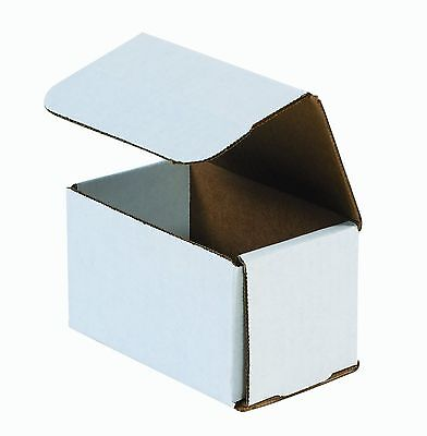 50 - 5x3x3 Small White Corrugated Cardboard Packaging Shipping Mailing Box Boxes