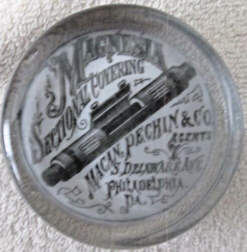 Early Advertising Paperweight Plumbing Supplies early 1900