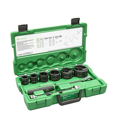 Greenlee 7238sb Slug-buster Knockout Kit With Ratchet Wrench Punch Set New