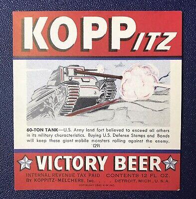 IRTP Koppitz Victory Beer #29, Koppitz-Melchers, Inc. Detroit MI