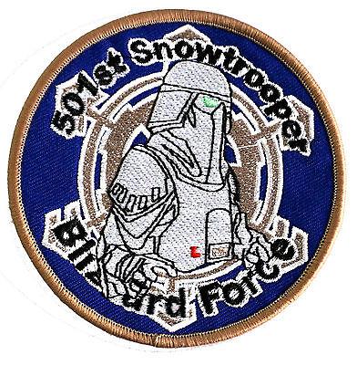 Star Wars - 501st - Snowtrooper - Blizzard Force - Uniform Patch Kostüm Aufnäher