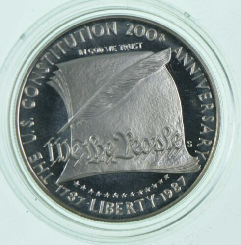 Proof 1987-S US Constitution Bicentennial * Commemorative 90% Silver Dollar
