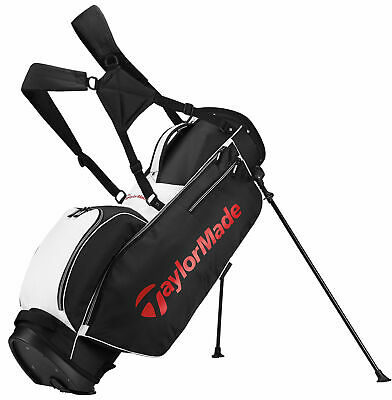TaylorMade TM 5.0 Golf Stand Bag New - Black/White/Red