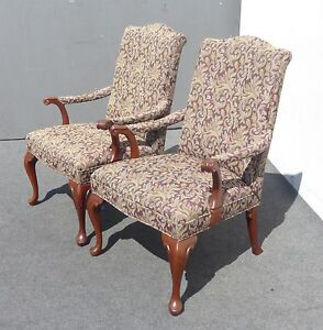 Pair bernhardt accent side arm chairs french country for Z furniture outlet santa ana
