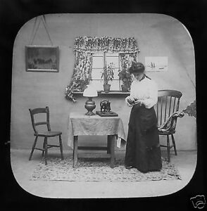 Glass-Magic-lantern-slide-THE-ANGEL-OF-THE-TENEMENT-NO-21-C1890-VICTORIAN-TALE