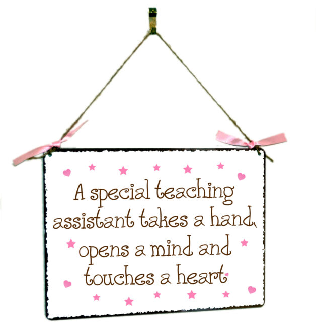 Teaching Assistant Hanging Shabby Chic Vintage Style Metal Plaque Sign Gift