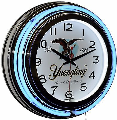 "Yuengling America's Oldest Brewery Since 1829 15"" Blue Double Neon Wall Clock"