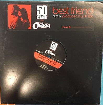 "50 CENT & OLIVIA Best Friend Remix 12"" Promo Single VG+ Vinyl 2006 Hip Hop"