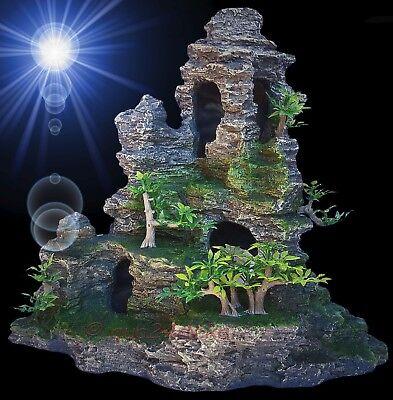 TOP Aquarium Deko 🍀 FISCH FELSEN HÖHLE 🍀 Laich Grotten Barsche Zubehör Steine