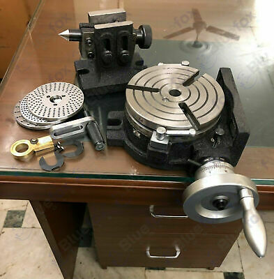 6150mm Rotary Table 3 Slot Hv6 With Indexing Plates Set And Tailstock
