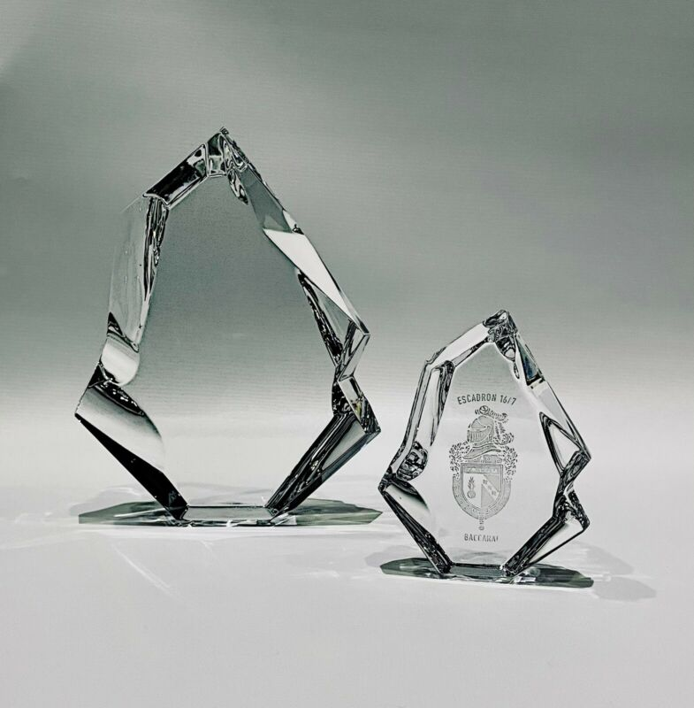 Baccarat Cystal Menhir Trophy Set Of Two