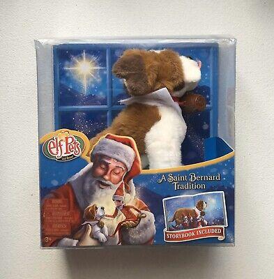New Christmas The Elf On The Shelf Elf Pets Saint Bernard Dog Plush & Storybook