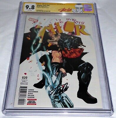 Mighty Thor #20 CGC SS Signature Autograph STAN LEE 9.8 Volstagg War Thor Homage