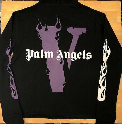 Vlone Palm Angels Purple / Black Hoodie Size XL - Ships Immediately