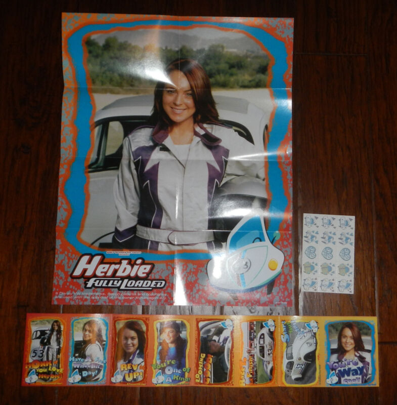 Herbie Fully Loaded 15x19 Movie Poster Lindsay Lohan Valentines Day Cards