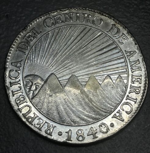 1840 Central America republic  8 reales, scarce