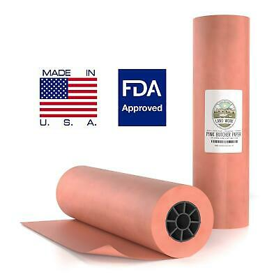 18x200 Pinkpeach Butcher Paper Roll Bbq Style Meat Smoker Safe Fda Wrapping