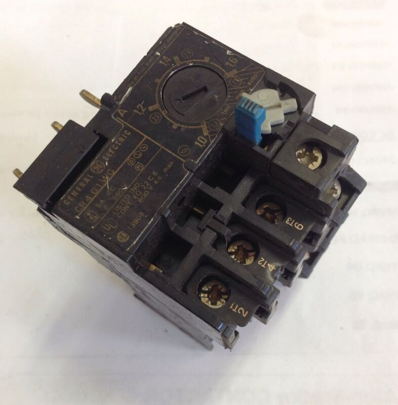 GENERAL ELECTRIC OVERLOAD RELAY  CR4G1WG *PZB*