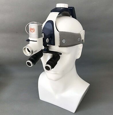 Dental Surgical Head Lamp With 6.0x5.0x4.0x Binocular Loupe Magnifier