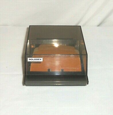 Vtg Lid Covered S-310 C Rolodex Business Phone Number Card Organizer Petite Box