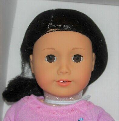 American Girl Doll #25 Black hair, brown eyes light skin Truly Me RETIRED AG NIB