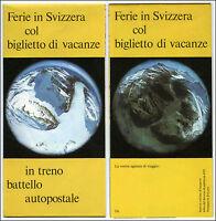 Carta Turismo Svizzera In Treno-ffs-vintage Travel Swiss Train Railways Map 70s -  - ebay.it