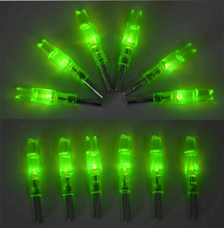 12pcs Archery LED Lighted Arrow Nocks Tail ID6.2 mm Outdoor Hunting Accessories