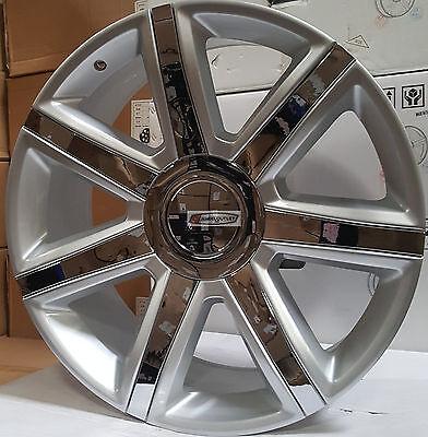"24"" Rims Platinum Style Silver Chrome Wheels Escalade EXT Yukon Denali"