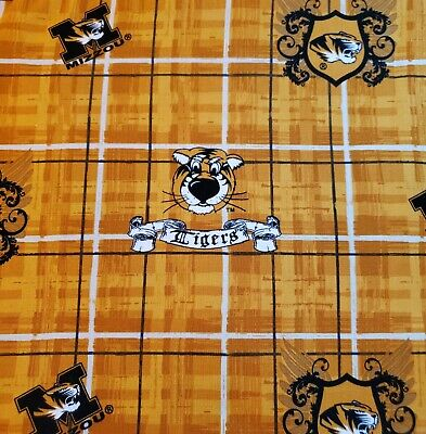 University Of Missouri Tigers College Sewing Quilting Fabric 1 2/3 yards ()