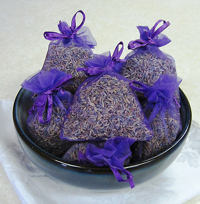 Set of 10 Lavender Sachets made with  Purple Organza Bags for sale  Ketchikan