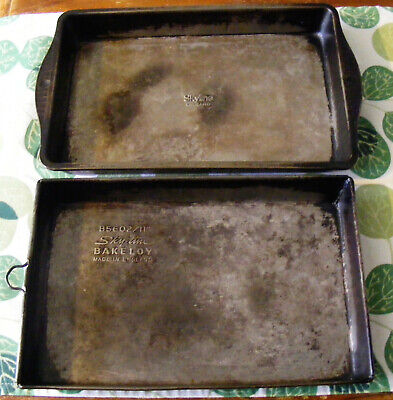 TWO VINTAGE SKYLINE BAKING TRAYS MADE IN ENGLAND